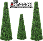 Pharaoh's Obelisk Topiary Trees PNG by dbszabo1