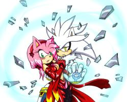 Silver x Amy - Shards by Amortem-kun