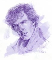 Benedict 'Sherlock' Cumberbatch by ChristineAltese