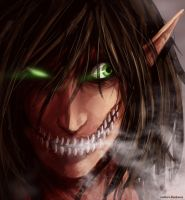 Fan Art Shingeki no Kyojin Titan by Makkura-BloodRaven