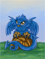 Little Blu Demon Bird by ChuChucolate