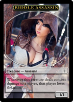 MTG Token - Riddle Assassin by Drayle88
