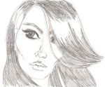 "Fast Sketch ""Zia's Face"" by selenameeka"