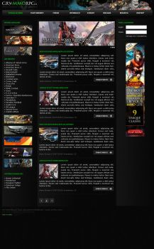 MMO Games Layout by catdesignpl