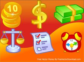 Free Vector Money Icons by freevectordownload