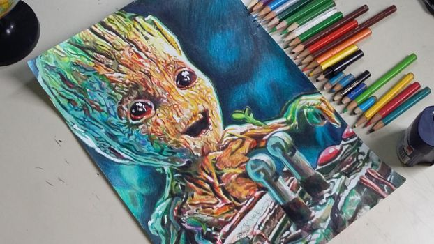 baby groot  by rafmadragon