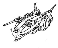 RG Salvage Shuttle -sketch- by clearwater-art
