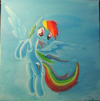 Rainbow Dash painting by FiddleArts
