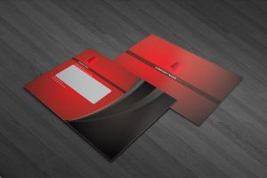Red tower corporate identity by Lemongraphic