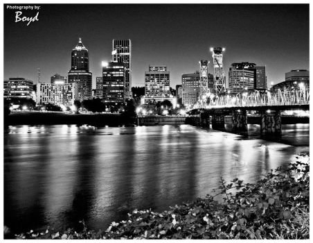 Portland in Black and White by cbrfreak
