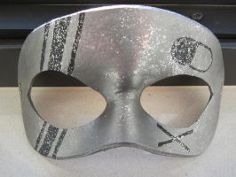 Sparklebass mask with party poison symbol by maskedzone