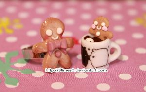 Teeny, tiny gingerbread man 2 by 3timesC