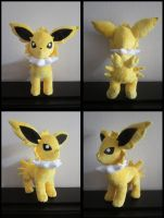 Jolteon Eeveelution Plushie by Miss-Zeldette