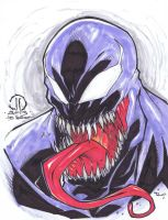 Venom marker sketch finished by JoeyVazquez