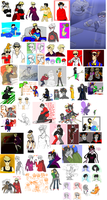 HOMESTUCK DOODLE DUMP DEC-APRIL by Vasheren