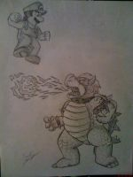 Mario vs. Bowser by Twinkie5000