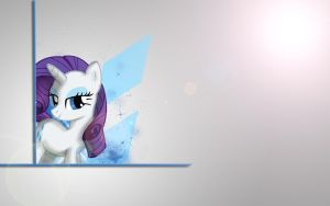 Rarity Simplistic Wallpaper by Woodyz611