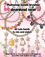 Cute Bead Brushes - Photoshop by hinoraito