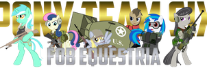 Pony Team Six (FOB Equestria Banner) by Spangladesh