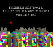 Atheism is like a Video Game by zomberinacontagion