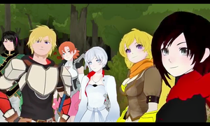 What a shot of the RWBY team!! :3 by ValkyrieFan345