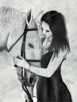 Lady with horse by Varyz