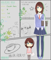 Nagasaki High: [NPC] Haru...and the awkward book by MarineJelly