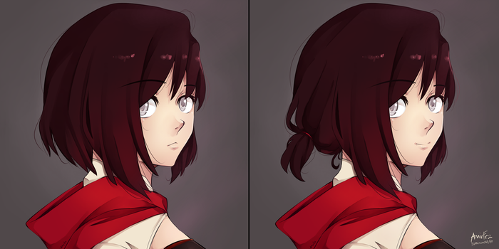 Ruby Different Hairstyle by samuraicat70