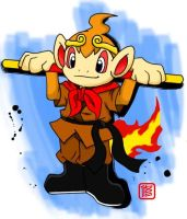 Chimchar Wu-kong style by Shioulion