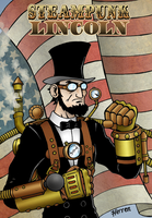 Steampunk Lincoln poster by herrenmedia