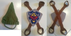 Link hat and Shield for cats by shadow-bahar