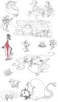 The Devil and Daniel Mouse sketchdump by Ghost-Peacock
