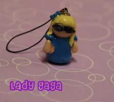 Lady GaGa cell phone charm by xSpriinklez