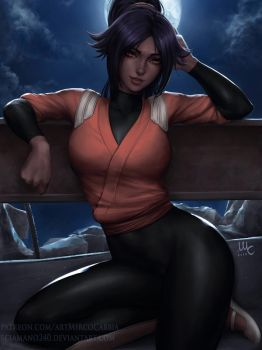 Yoruichi - Bleach (3v) by Sciamano240