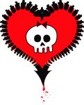 Alkaline trio heart tattoo by demonfury