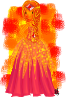 Flame Princess Dress by Mitz-Abi