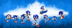 Sonic 21th aniversary by Loftwing