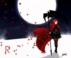 Fan Art of Ruby - RWBY by erikanamy