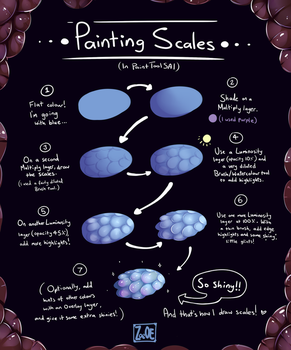 painting scales with Paint Tool SAI by oddsocket