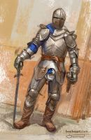 Knight painting by bocho