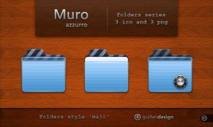 MURO AZZURRO  folders by GuillenDesign