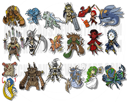 Guardian Sagas Chibi Guardians by The-Knick