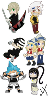 Soul Eater Chibis set 1 by Rica-Fox-Prower