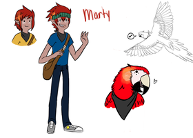 Marty the Parrot Messenger ( UPDATED ) by SharkMate