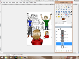 look at me showing you  my WIP like a boss by MEG4LOVANIA