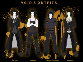 -Void's Outfits reference sheet- by TrelDaWolf
