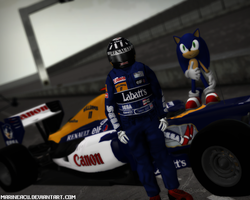 Williams F1, Damon Hill and Sonic by MarineACU