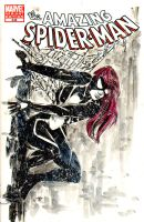 sketch cover of Spider-Girl by brokenluk