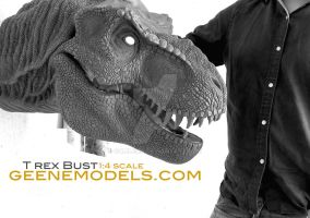 T Rex Bust 1:4 scale by GalileoN