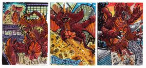 Kaiju Kards Set9 by fbwash